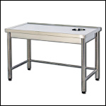 Sorting Table with Welded drain Hole
